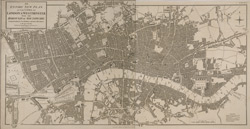 An entire new plan of the cities of London & Westminster; with the borough of Southwark: comprehending the new buildings and other alterations, to the present time (1823)